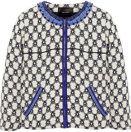 Isabel Marant Josh embellished crepe-jacquard jacket
