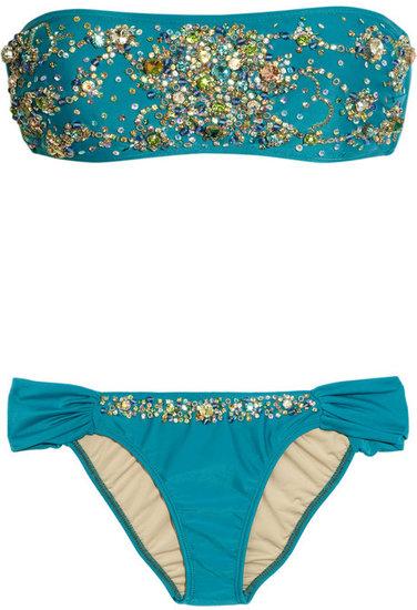 Tara Matthews Embellished bandeau bikini