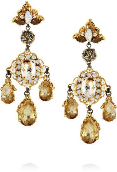 Erickson Beamon Girlie Queen gold-plated Swarovski crystal earrings