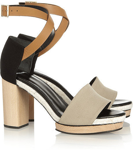 Pierre Hardy Canvas and leather sandals