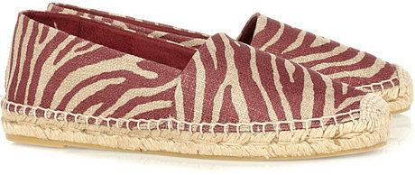 Stella McCartney Zebra-print woven espadrilles