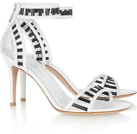 Gianvito Rossi Cutout two-tone leather sandals