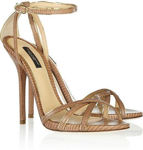 Dolce & Gabbana Lizard-effect leather sandals