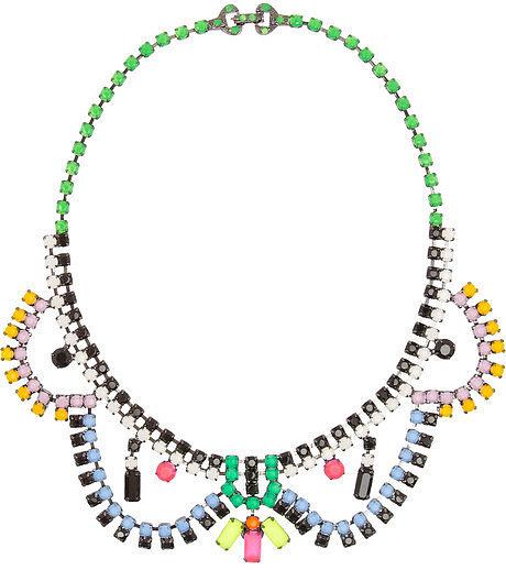 Tom Binns Electro Clash Nova painted Swarovski crystal necklace