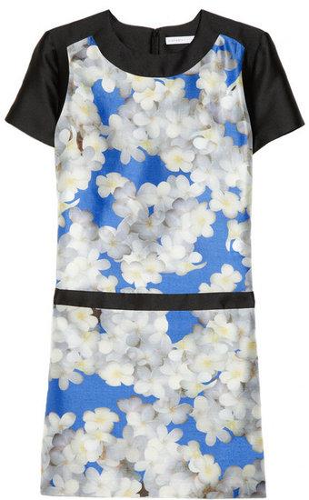 Victoria, Victoria  Beckham Printed silk-shantung dress