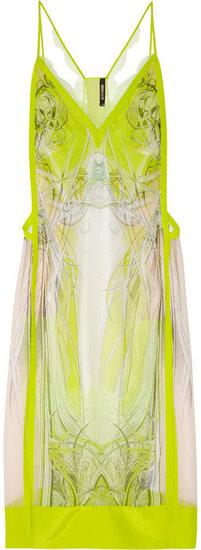 Roberto Cavalli Printed silk-chiffon dress