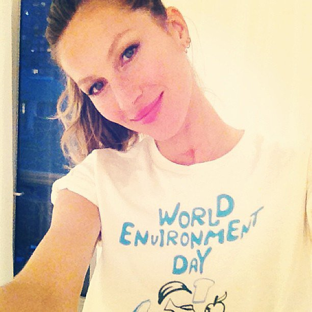 Gisele Bündchen snapped a selfie to celebrate World Environment Day. Source: Instagram user giseleofficial
