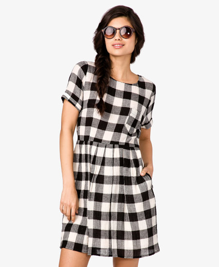 FOREVER 21 Checkered Broomstick Dress