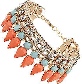 Embellished coral bracelet