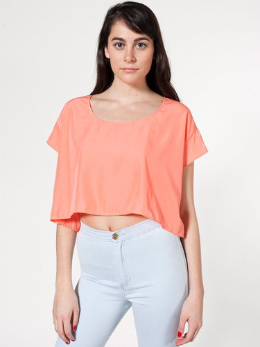 Silky Loose Crop Tee