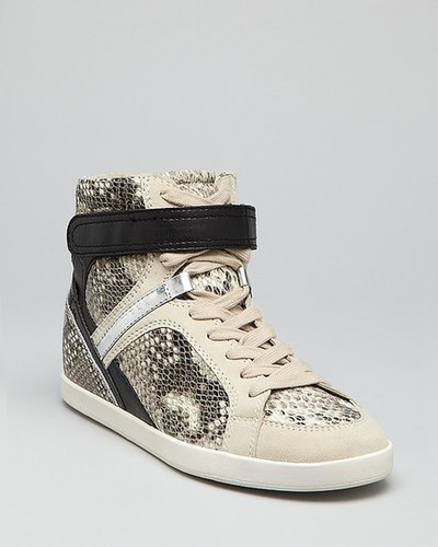 GUESS Lace Up Exotic Wedge Sneakers - Perina