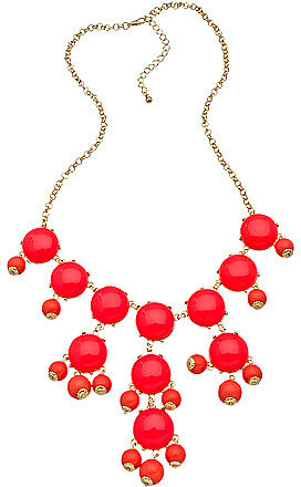 Blu Bijoux Gold and Coral Mini Bubble Necklace