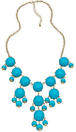 Blu Bijoux Gold and Turquoise Mini Bubble Necklace
