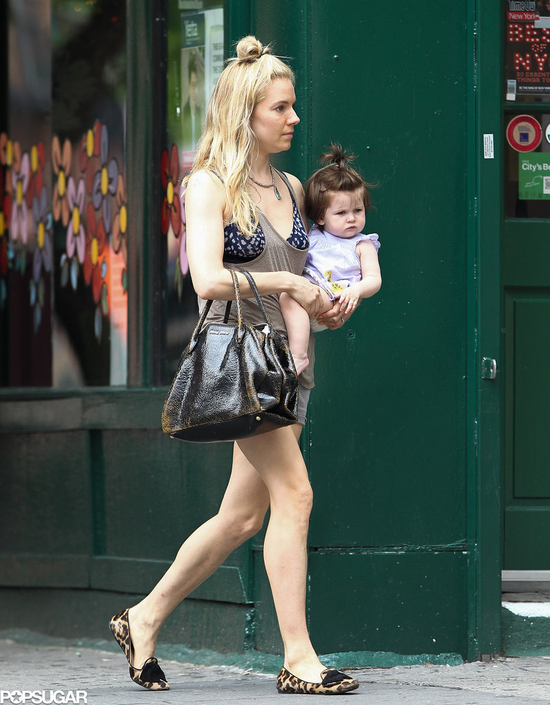 Sienna Miller and baby Marlowe sported matching hairdos in NYC.