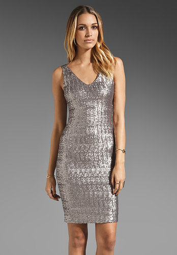 Velvet Stretch Sequin Farah Dress