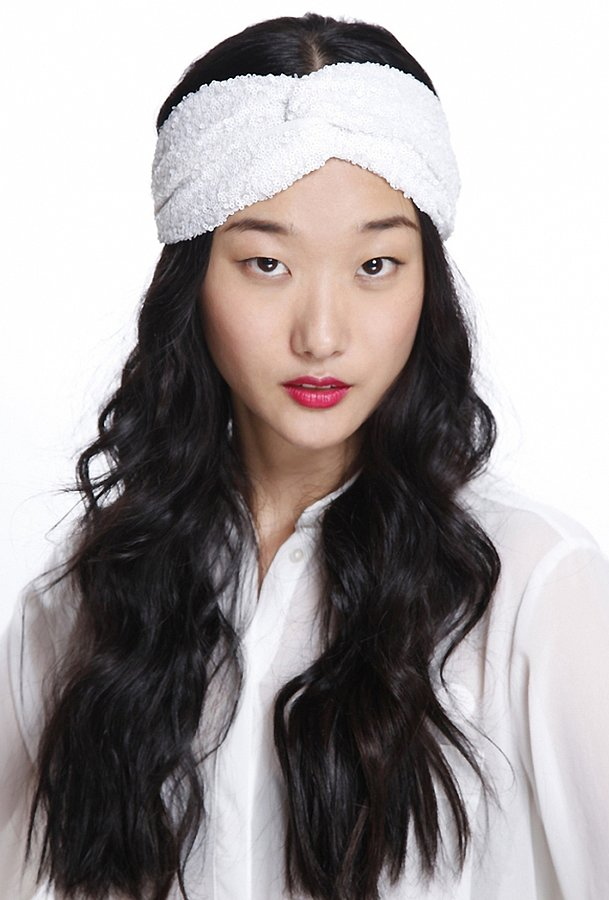 Not only is Genie by Eugina Kim's Penny Twist Turban Headband ($36) made of gorgeously delicate lace, but also, its light color will help keep you cool.