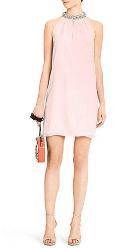 Lainey Embellished Dress In Blush