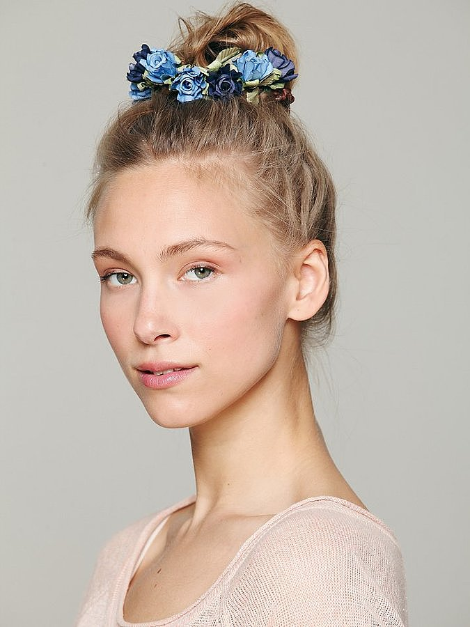 Add some flower power to your topknot with Bun Floral Crowns ($24) from Free People.