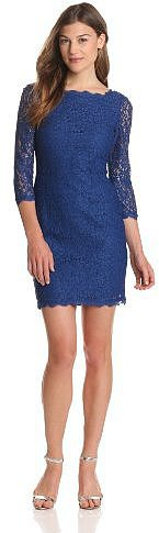 Adrianna Papell Women's Women's Long Sleeve Lace Dress