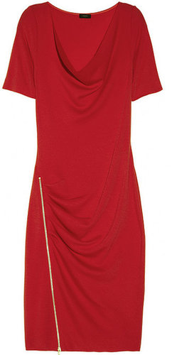 Joseph Zip-detailed wool-jersey dress