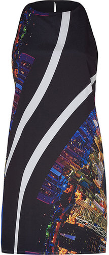 Clover Canyon Black-Multi Citylights Printed Dress