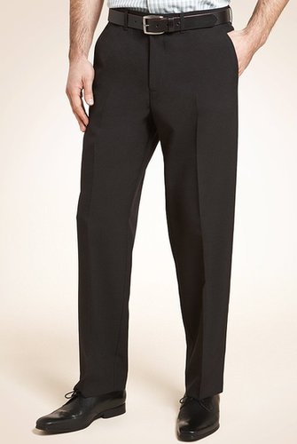 Flat Front Slim Fit Trousers