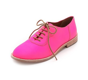 These Marc by Marc Jacobs bright pink oxfords ($388) are definitely not for the fashion shy. If you want to get your feet noticed at all times, then they're the ones for you.