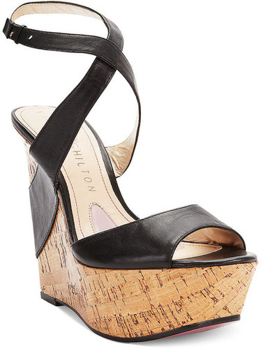 Paris Hilton Shoes, Ava Platform Wedge Sandals