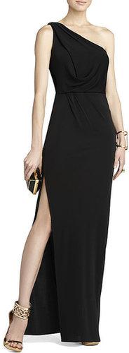 Snejana One-Shoulder Evening Gown