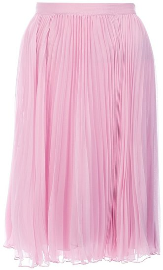 Ralph Lauren Blue pleated midi skirt