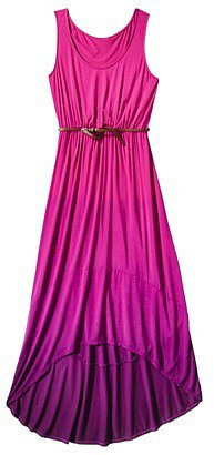 Merona® Women's Hi-Lo Hem Maxi Dress w/Belt - Assorted Colors