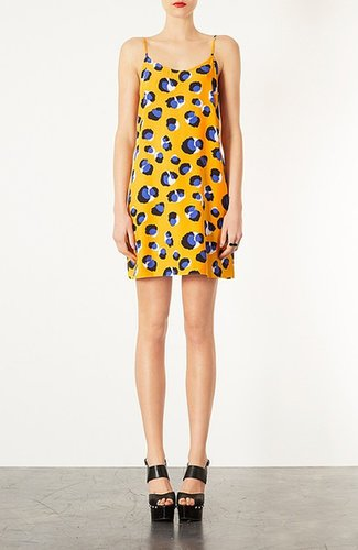 Topshop Animal Print Slip Dress
