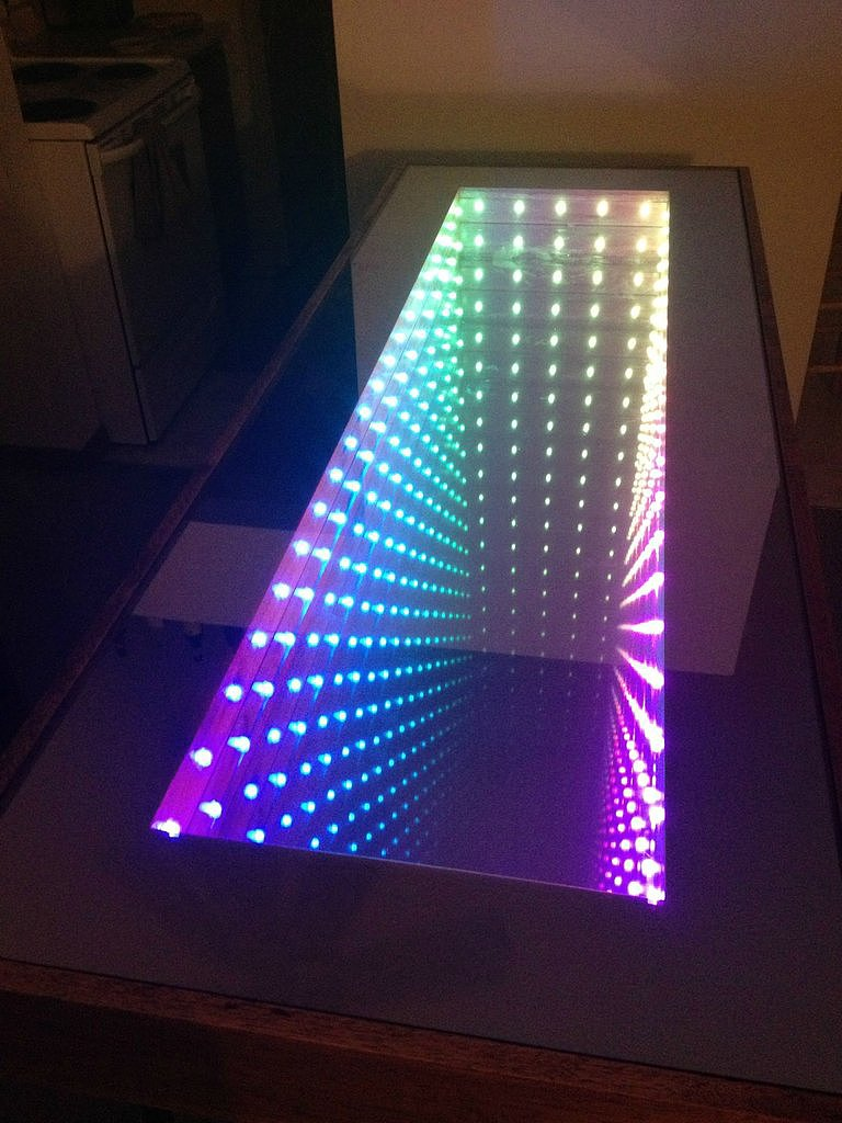 An infinity table no way 18 incredible things you never for Miroir infini led