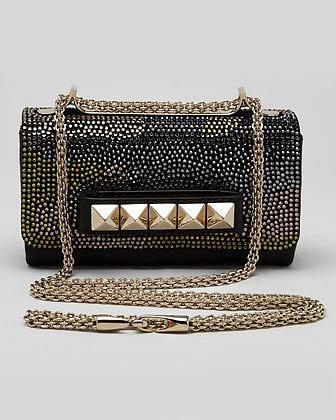 Valentino VaVa Voom Camo Crystals Flap Bag