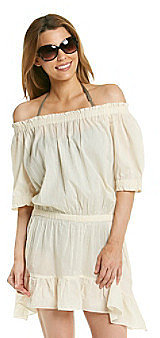 "MICHAEL Michael Kors® ""Solid Cover Ups"" Off The Shoulder Coverup Dress"