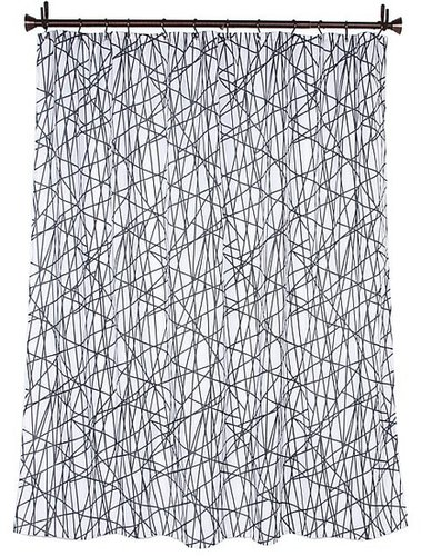 InterDesign - Abstract Shower Curtain (Black/White) - Home