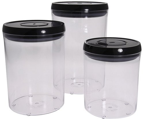 OXO - Good Grips 3-Piece POP Round Canister Set (Black) - Home