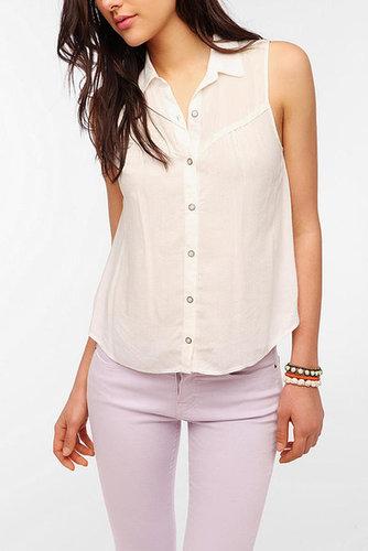 Kimchi Blue Sleeveless Western Shirt