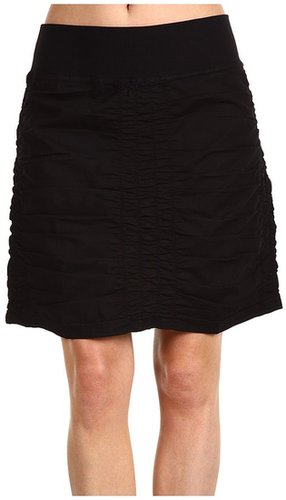 XCVI - Trace Black Stretch Poplin Skirt (Black) - Apparel