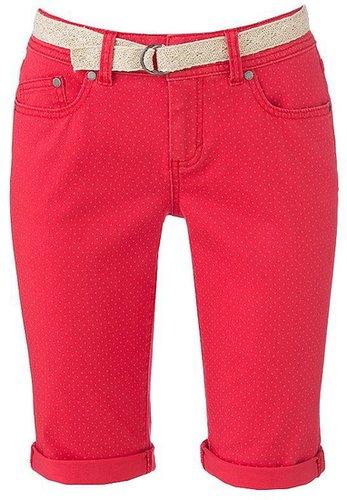 Elle™ polka-dot color denim bermuda shorts