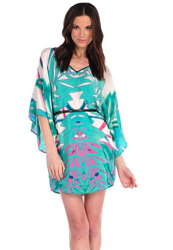 Twelfth Street By Cynthia Vincent Summer Leaf Belted Caftan