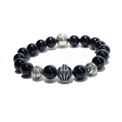 Chrome Hearts Beads Bracelet Black
