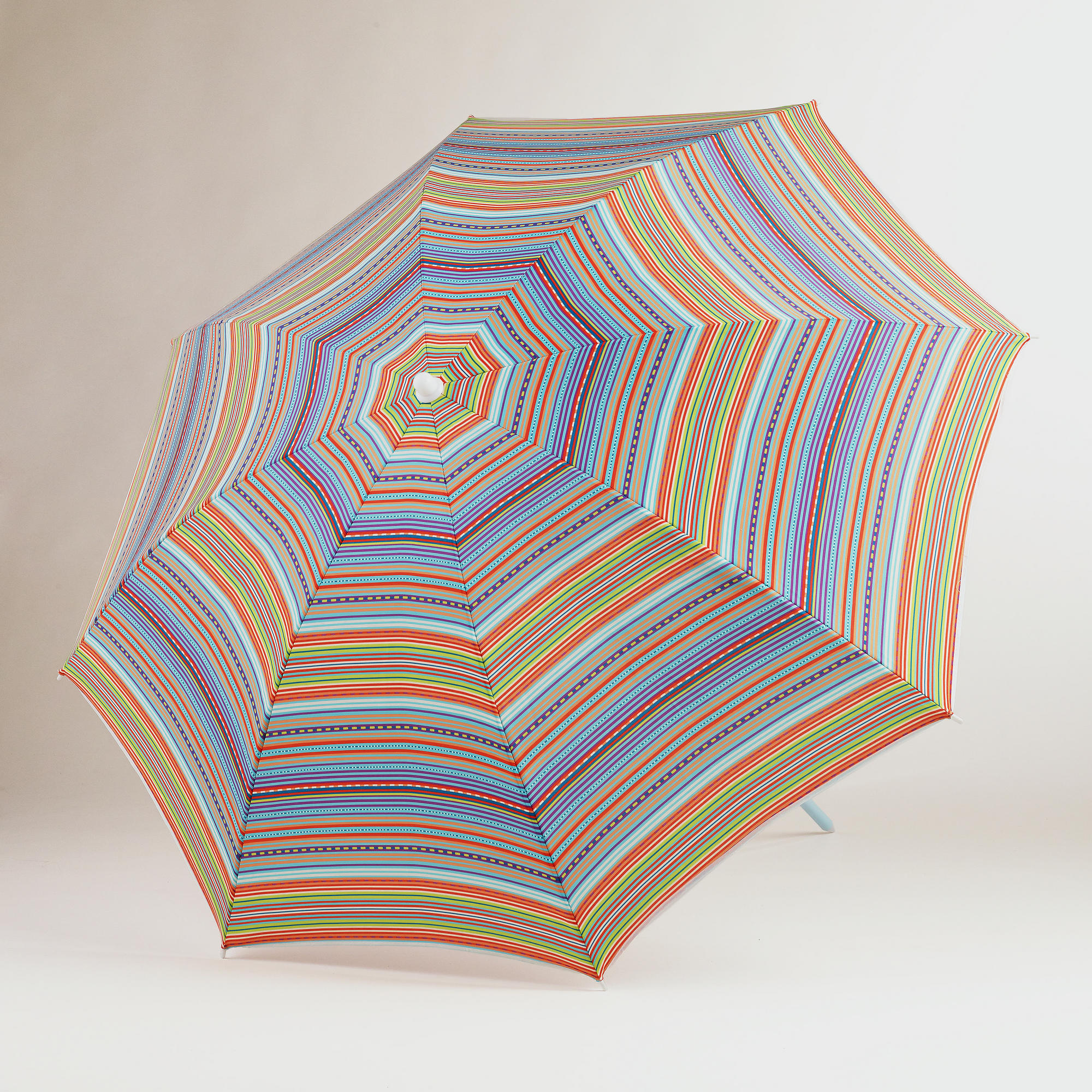 This multicolored, striped umbrella ($17) from Wor