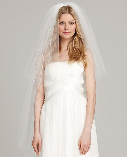 Two Tier Fingertip Length Veil