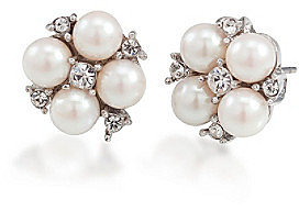 Carolee® Silvertone Small Cluster Button Earrings