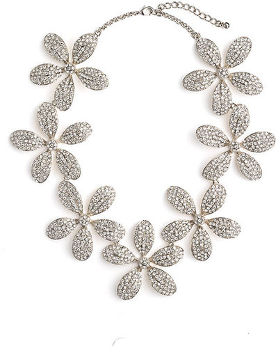 Tasha Pave Flower Statement Necklace