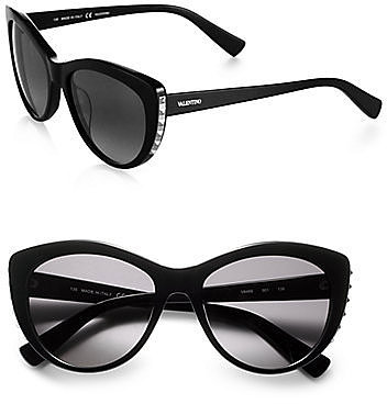 Valentino Metal Studded Cat's-Eye Sunglasses