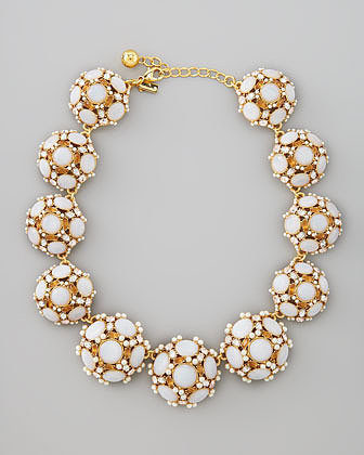 Kate Spade New York Collar Statement Necklace, White