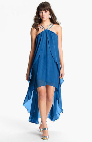 Hailey by Adrianna Papell High/Low Chiffon Dress (Online Only)