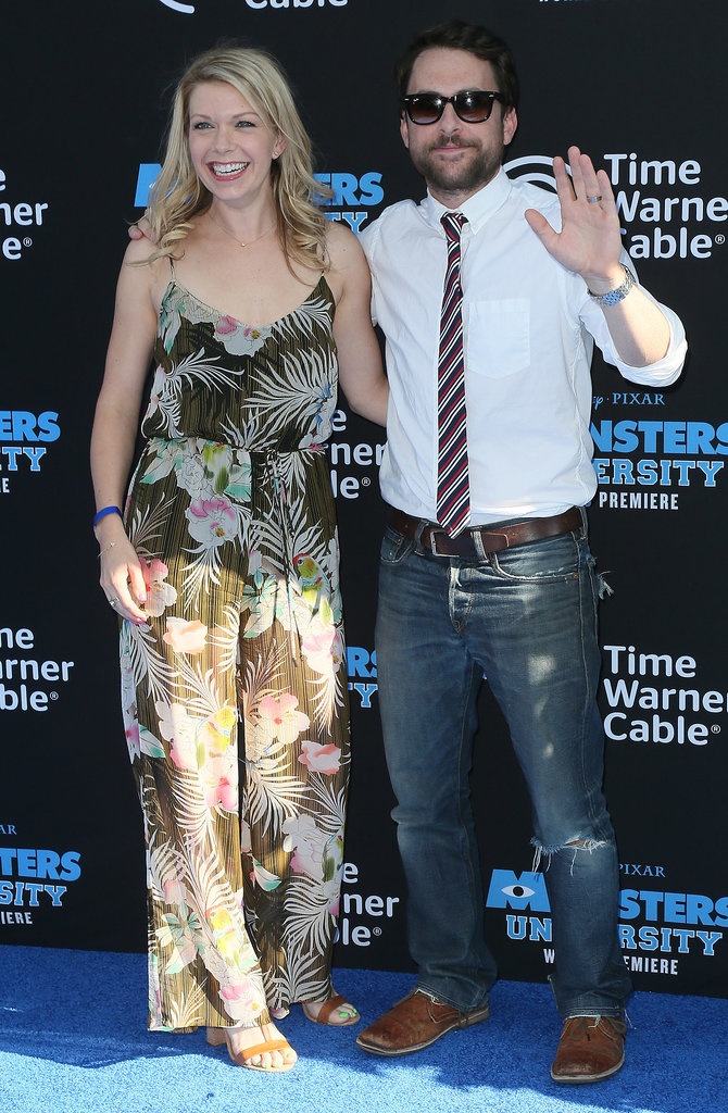 Charlie Day and Mary Elizabeth Ellis waved to the crowd.